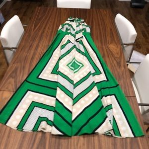 Halter green maxi dress